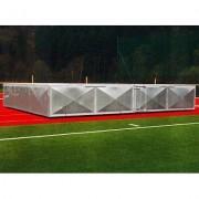Verrijdbare afdekking voor hoogspringkussen, 400x250x50 cm