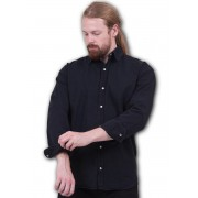 košile pánská SPIRAL - METAL STREETWEAR - Black - P003M610