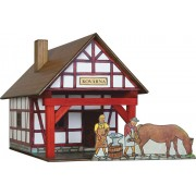 WALACHIA fa építőjáték modell - favázas kovácsműhely