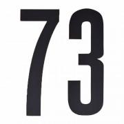 Merkloos Cijfer sticker 73 zwart 10 cm