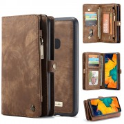 CASEME 008 Series for Samsung Galaxy A40 2-in-1 Multi-slot Wallet Vintage Split Leather Phone Cover - Brown