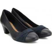 Clarks Denny Louise Navy Combi Bellies For Women(Navy, Black)