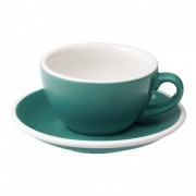 "Cappuccino-Tasse mit Untertasse Loveramics ""Egg Teal"", 200 ml"