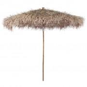 vidaXL Бамбуков чадър с покрив от бананови листа, 210 см