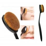 Nuevo 1 Cepillo Brochas De Dientes Estilo Polvo Fundación Maquillaje Puff óvalo - Negro