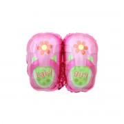 Balon folie metalizata pantofiori Baby Girl 45 cm