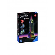 RAVENSBURGER 3D Puzzle Empire State Building bei Nacht - Night Edition 216 Teile