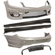 Classe Kit estetico TUNING MERCEDES ClasseC W204 2007-2014 berlina, look AMG C63, con paraurti minigonne e griglie