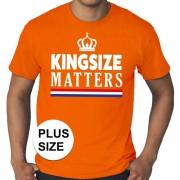 Shoppartners Oranje Koningsdag Kingsize Matters grote maten shirt heren