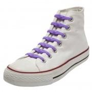Shoeps 14x Paarse schoenveters elastisch/elastiek siliconen