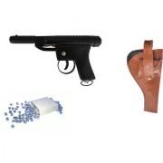Prijam Air Gun Cb-007 Metal Body 300 Pellets Cover Air Gun Combo Offer