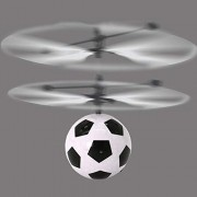 HATCHMATIC 1PC Electric RC Flying Ball Football Infrared Induction Aircraft LED Flash Light for Kids Teenagers Colorful Flyings Free Ship: White