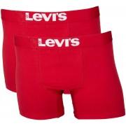 Levi's Boxershort 2-Pack Chili Rot - Rot Größe L