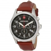Wenger Mens 0543102 Analog Display Swiss Quartz Brown Watch