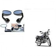 Kunjzone Premium Quality Motorycle Bar End Mirror Rear View Mirror Oval for Hero Splendor Pro
