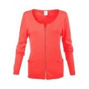 MADELEINE Gilet femme corail / orange
