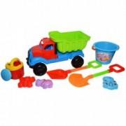 Jucarii pentru plaja si nisip - Camion mare cu accesorii pentru joaca in nisip