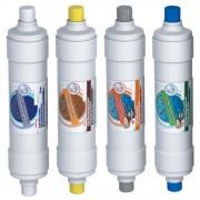 Set 4 filtre de schimb cu carcasa alba pentru conector rapid