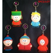 5pc/set South Park Keychains Stan Kyle Eric Kenny Butters Dolls keychain