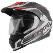 Astone Casco Moto Integrale Cross Crossmax Road Matt Black Grey Red
