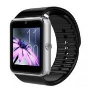 Ceas Smartwatch cu Telefon iUni GT08 Bluetooth Camera 1.3 MP Ecran LCD antizgarieturi Silver Bonus Bratara Roca Vulcanica unisex