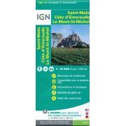 Fietskaart - Wandelkaart 37 Bretagne: Saint Malo - Côte d'Emeraude - Mont Saint-Michel   IGN