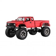 SaiDeng WiFi 2.4G Remote Control Car 1:16 Military Truck Off-Road Climbing Auto Controller Toys with HD Camera Four-Drive RC Vehicle Gift for Children Kids Boys Red Hollow Tire