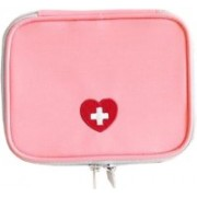 Arura Mini Waterproof Travel Outdoor Emergency Conitale Medical First Aid Pouch Kit Bag(Pink)