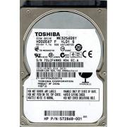 """Toshiba MK3256GSY 2.5"""" 320 GB Serial ATA II Disco Duro (2.5"""", 320 GB, 7200 RPM)"""