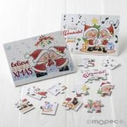Puzle/postal de navidad de 15 piezas Pit&Pita cantando/beso