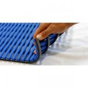 EHA Nassraummatte, antibakteriell, pilzfeindlich - Nassraummatte, antibakteriell, 10 m Rolle, Breite 1200 mm, blau