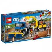 Конструктор ЛЕГО Сити - Машина за метене и екскаватор, LEGO City, 60152