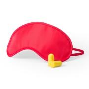 Merkloos Slaapmasker rood met oordoppen