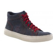 Turtle Relaxed Wash Canvas Shoes(Blue)