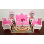 Barbie Deluxe Living Room Furniture And Accessories Playset