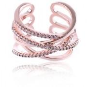 Simply Gorgeous Criss-Cross Beautiful Zircon Adjustable Ring For Women & Girls