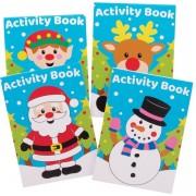 Baker Ross AX476 Kerstactiviteiten Boeken Voor Kinderen - Pakket Van 12, Kinderpuzzels, Woordzoeker, Annogrammen, Geheugenspellen. Een Geweldige Kousvuller Of Klein Cadeau Voor Kinderen.