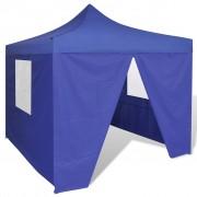 vidaXL Tenda dobrável 3 x 3 m azul com 4 paredes