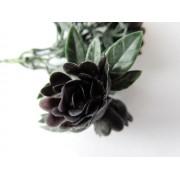 Roossteker paars/zwart kunstbloemen en kunstplanten