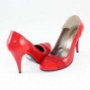 Pantofi piele naturala dama - rosu, Nike Invest - toc inalt - M420-R-L-B