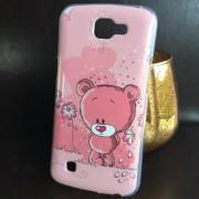 Husa LG K4 Silicon TPU Gel Model GLY Love Pink Bear