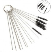 DIY Crafts Carburetor Carbon Dirt Jet Cleaner Tool Kit Small Wire Brush - 10 Cleaning Needles + 5 Brushes