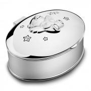 Casetuta Argintata Pentru Botez