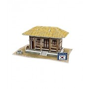 Korean Thatched Cottage Three-Dimensional House Of Manual Assembly Paper Model