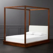 Bali Wood Canopy Bed Queen by CB2