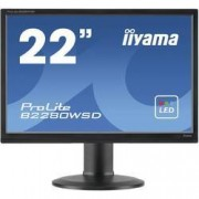 Iiyama LED monitor Iiyama B2280WSD-B1, 55.9 cm (22 palec),1680 x 1050 px 5 ms, TN LED DVI, VGA