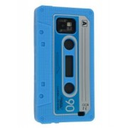 Cassette Tape Style TPU Case for Samsung I9100 Galaxy S2 - Samsung Soft Cover (Blue)