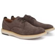 Clarks FLEXTON PLAIN BROWN NUBUCK Sneakers For Men(Brown)