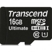 Transcend 16GB microSDHC UHS-I (with adapter, Class 10) - TS16GUSDHC10U1