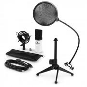 Auna MIC-900WH USB Set de micrófonos V2 Micrófono de condensador Protección anti pop Soporte de mesa (60001944-V2)